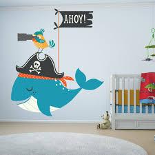piratenzimmer wandgestaltung piratenzimmer messlatte kinder wandtattoo piratenschiff
