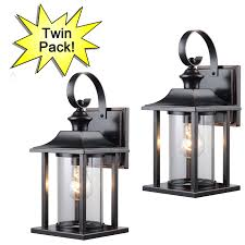 outdoor patio porch exterior light fixture twin pack 73479