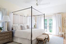 Iron Canopy Bed East Hton Cottage Style Bedroom New York By