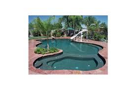 sports pool and water slides backyard pools paradise pools