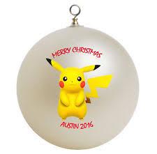 personalized pikachu ornament gift add name ebay