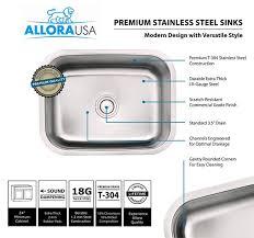 Allora USA ADA Kitchen Sink   X  X  Undermount - Ada kitchen sink