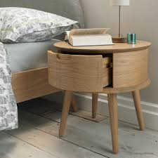 Metal And Wood Bedroom Furniture Bedroom Recycled Metal Round Nightstand With Wooden Top For