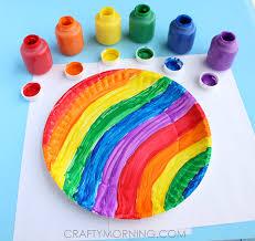 rainbow paper plate twirler kids craft crafty morning