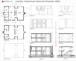 fisher house kahn plans house design plans