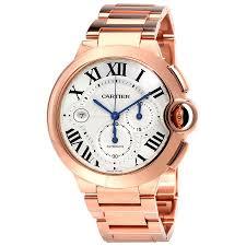 gold bracelet mens watches images Cartier ballon bleu chronograph bracelet men 39 s watch replica jpg