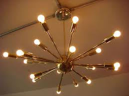 18 Light Starburst Chandelier Polished Brass Atomic Sputnik Starburst Light Fixture Chandelier