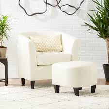 navy accent chair and ottoman home chair designs regarding
