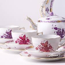 tea cup apponyi light purple herend experts