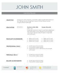 engineering internship resume template word resume template internship internship resume sle for students
