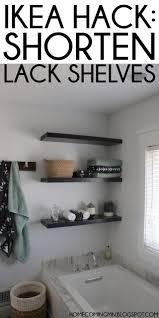 floating picture shelves home coming ikea hack shortening lack shelves