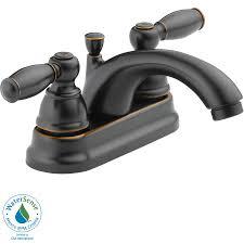 shop peerless apex oil rubbed bronze 2 handle 4 in centerset