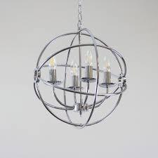Z Gallerie Chandeliers Spherical Chandelier Modern Stainless Steel Spherical Chandelier