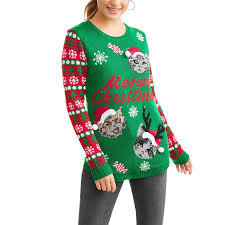 sweater walmart no boundaries juniors light up meowy sweater