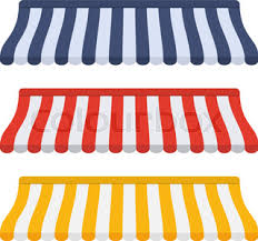 Striped Awning Set Of Striped Awnings Stock Vector Colourbox