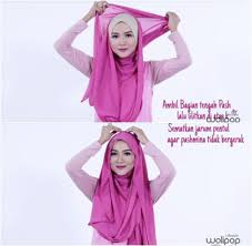 tutorial hijab noura tutorial hijab pashmina menutup dada ala ussiy noura 4