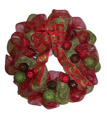 christmas mesh ribbon how to make a beautiful mesh ribbon christmas wreath ebay
