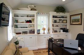 Home Office Shelving by Detached Structure Converted To Home Office