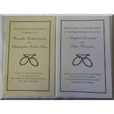 ceremony programs wedding ceremony programs phlets white color