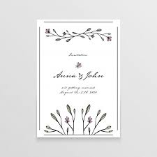 wedding invitation card wedding invitation card with floral elements vector free
