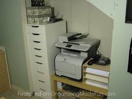 Cabinet For Printer Organized Reader Beautifully Organized Home Office Organizing