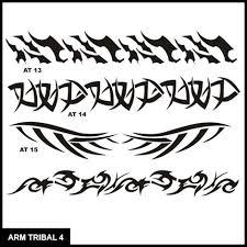 armband tribal stencil set 4 airbrush tattoos island tribal