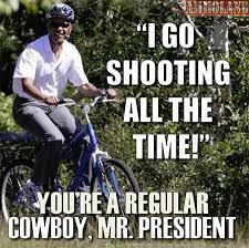 Obama Shooting Meme - fake photo of president obama skeet shooting