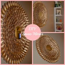 Mirror Decorating Ideas How To Diy Spoon Mirror Wall Decor Youtube