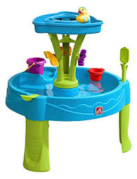 step 2 plastic train table amazon com step2 summer showers splash tower water table toys games