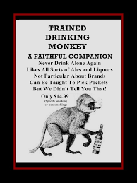 funny beer cartoon arleyart com trained drinking monkey wall decor gift funny wall