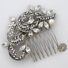 vintage hair combs wedding hair jewelry bridal hair combs barrettes hair