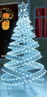 ebay outdoor xmas lights 4ft outdoor white silver pre lit pop up spiral christmas tree led