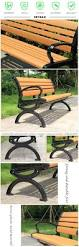 patio garden chair wood slats cast iron outdoor bench with back