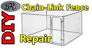 diy mending chain link fence panels kennel fencing
