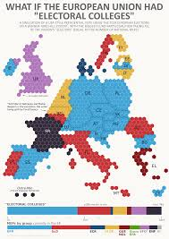 Electoral Votes Per State Map by What If The Eu Had Presidential Elections Like The Usa A P