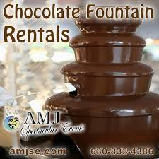 chocolate rentals rent chocolate in chicago il chocolate fondue