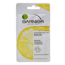 Masker Garnier Lemon garnier light peel mask 2x6ml wikiharga