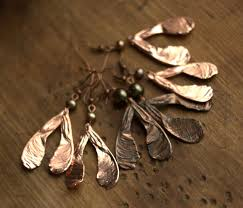 electroforming copper beautiful jewelry made from objects using electroforming