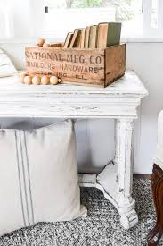How To Repurpose Piano Benches by Piano Bench Turned Farmhouse Bench My Creative Days