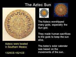 the aztec sun ppt