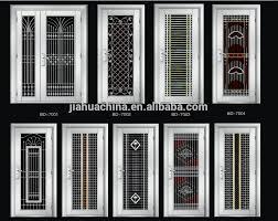 alibaba new model stainless steel door design arch top modern