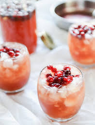 cranberry cider cocktail thanksgiving food