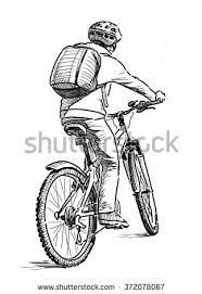 sketch bicyclist stock vector 193686602 shutterstock