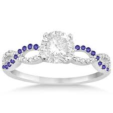 tanzanite wedding rings infinity tanzanite engagement ring 14k white gold 0 21ct