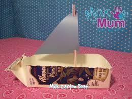 simple kids craft how to make a milk carton boat youtube loversiq
