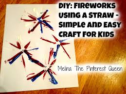 diy 4th of july fireworks using a straw simple and easy craft