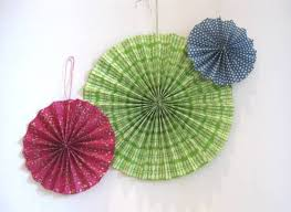 hanging paper fans how to make paper fan decorations