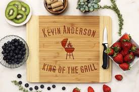 personalized grill platter personalized king of the grill cutting board 21084