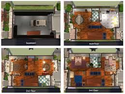 mod the sims refined row house w park across street