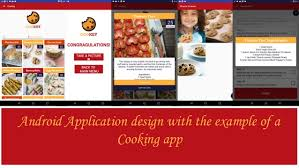 application cuisine android android application design with exles